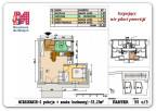 33,23 m2 – Rzeszów – Wieniawskiego – 2 pokoje – parter
