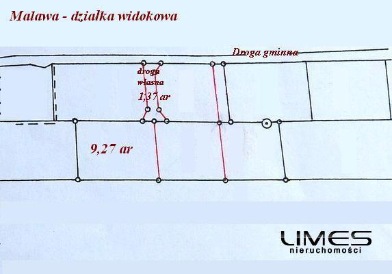 MALAWA – 10,64 ar – działka budowlana