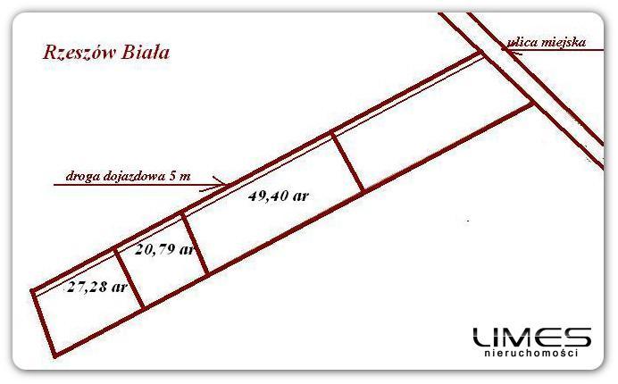 RZESZÓW – Biała, ok. K. Wojtyły – 97,47 ar – 3 działki budowlane