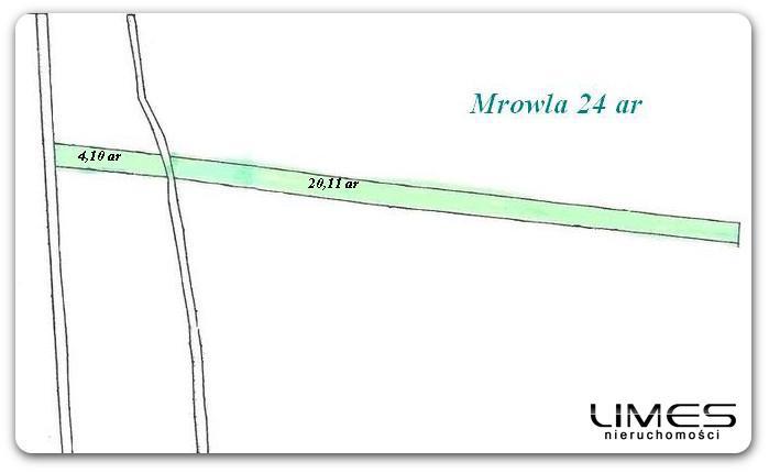 Mrowla – 24 ar – działka rolna