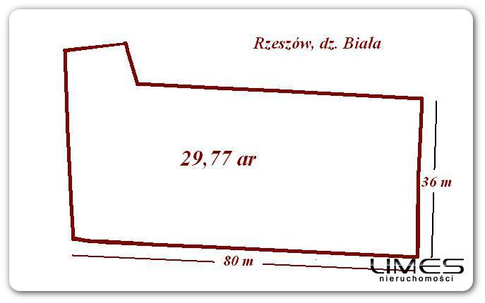 Rzeszów  Biała – 29,77 ar- działka pod zabudowę