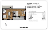 Rzeszów Przybyszówka – Apartamenty Zachód – 62,64 m2 -3 pokoje