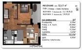 Rzeszów Przybyszówka – Apartamenty Zachód – 52,47 m2 -3 pokoje
