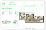 61,92 m2 – Łańcut – 3 pokoje – stan deweloperski
