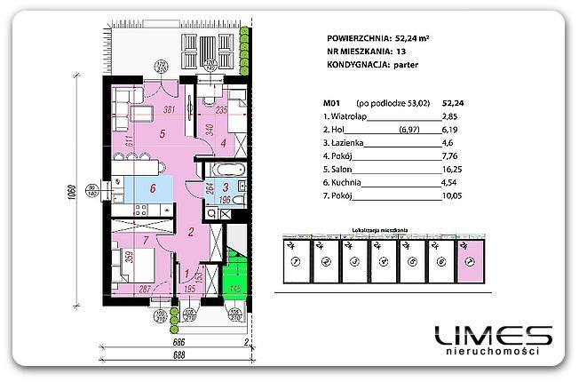 52,24 m2 – Rzeszów Strażacka – 3 pokoje