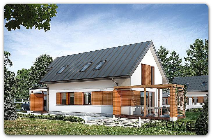 Rzeszów Przybyszówka – 135,8 m2 – Dom WS – stan surowy zamknięty